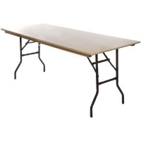 Wooden Trestle Table 6ft x 2ft 6in