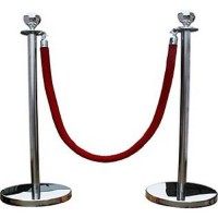 Red Rope Barrier Hire