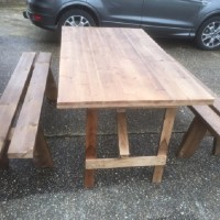 Heavy Quality Rustic Table and Benches