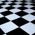 Budget Black & White Dance Floor 4m x 4m