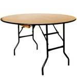 5ft Round Wooden Banqueting Table