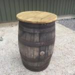 Oak Barrel Poseur Table